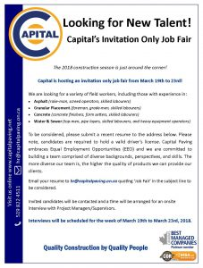 2018 Invitation Only Job Fair 1