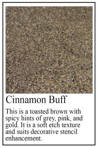 Cinnamon Buff sample