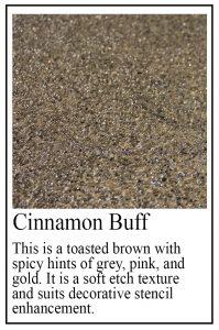 Cinnamon Buff sample